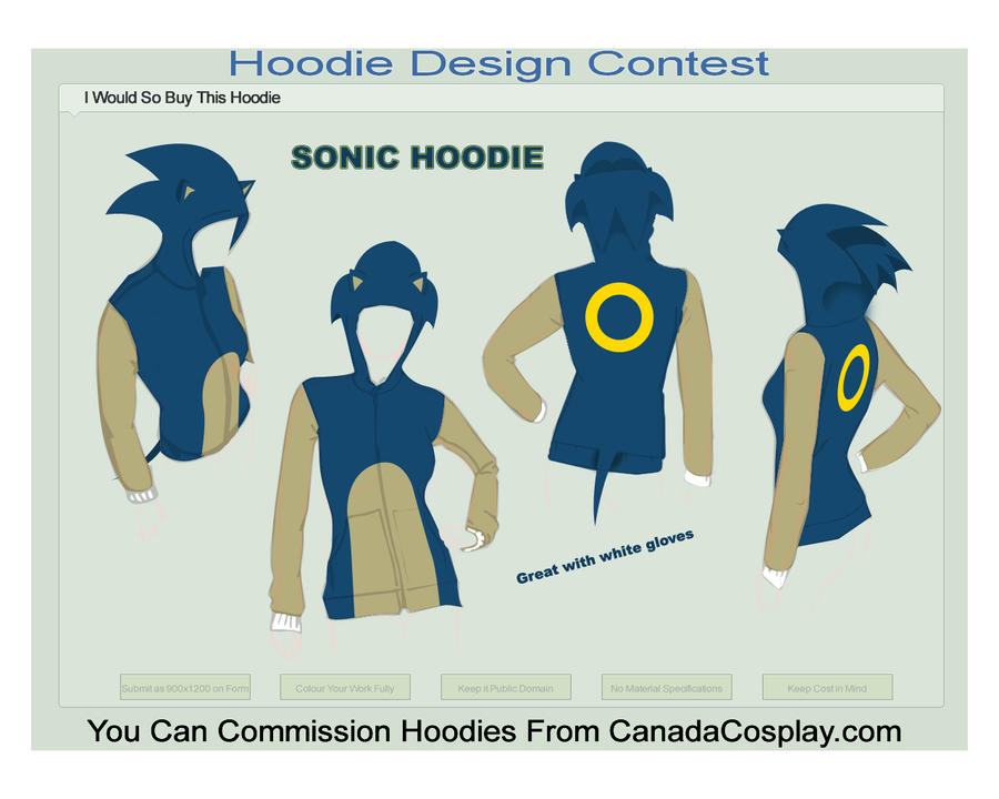 Sonic Hoodie Male - Предметы аватара Xbox Live - Gallery - Sonic SCANF
