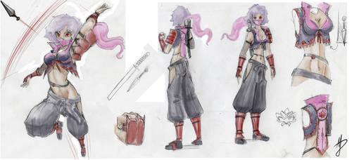Misterious Ninja Girl by Zolaris