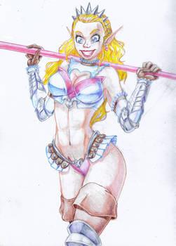 Helga Monica the Elven Warrior Princess