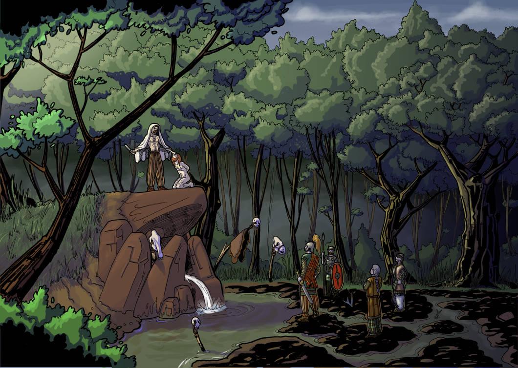 Rituel druidique / Druidic Ritual (color)