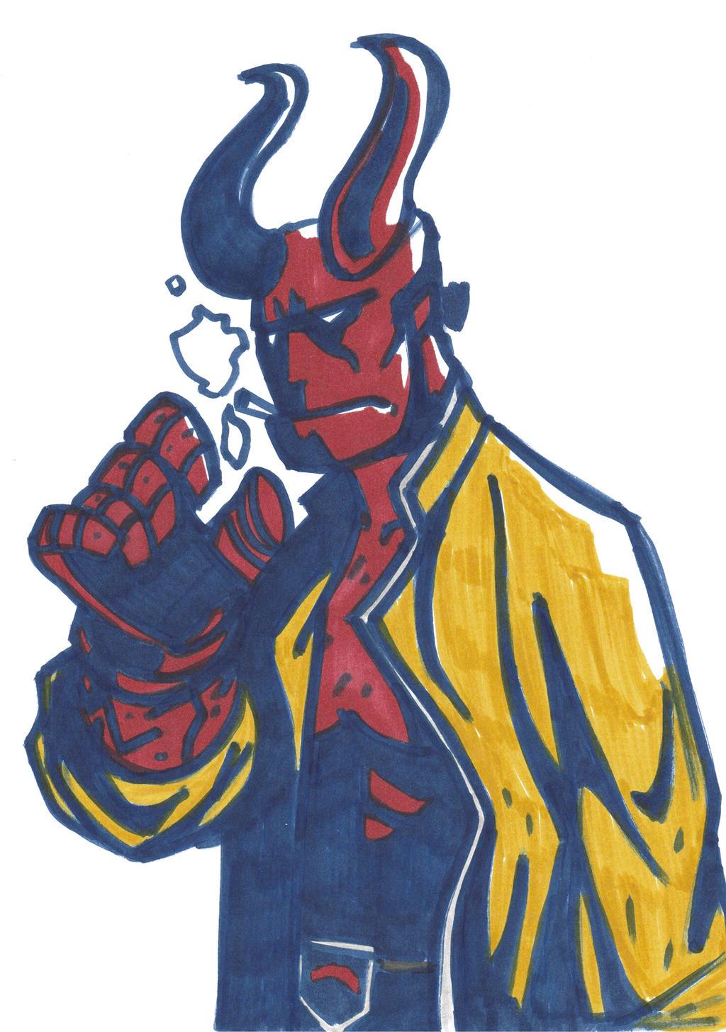 Hellboy inktober by Mercvtio