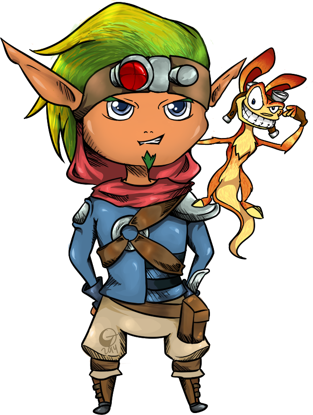 Jak and Daxter by G-Tenshi
