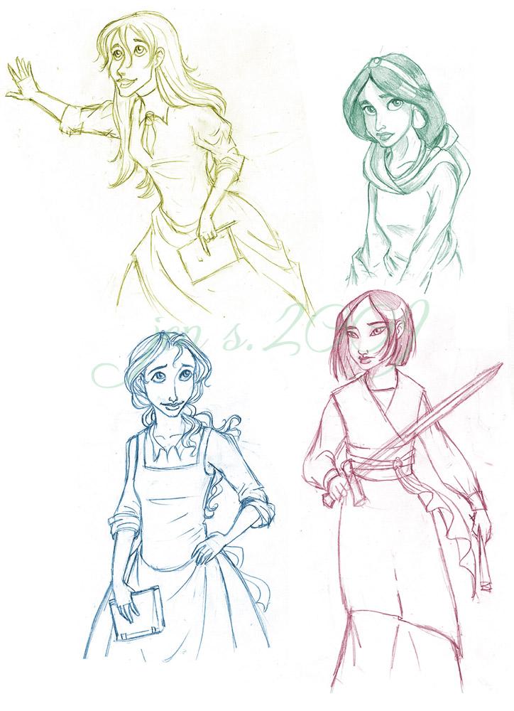 Pencil Sketches Of Disney Princess | www.imgkid.com - The ...