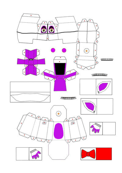 Foxy F-naf Papercraft Templates Related Keywords