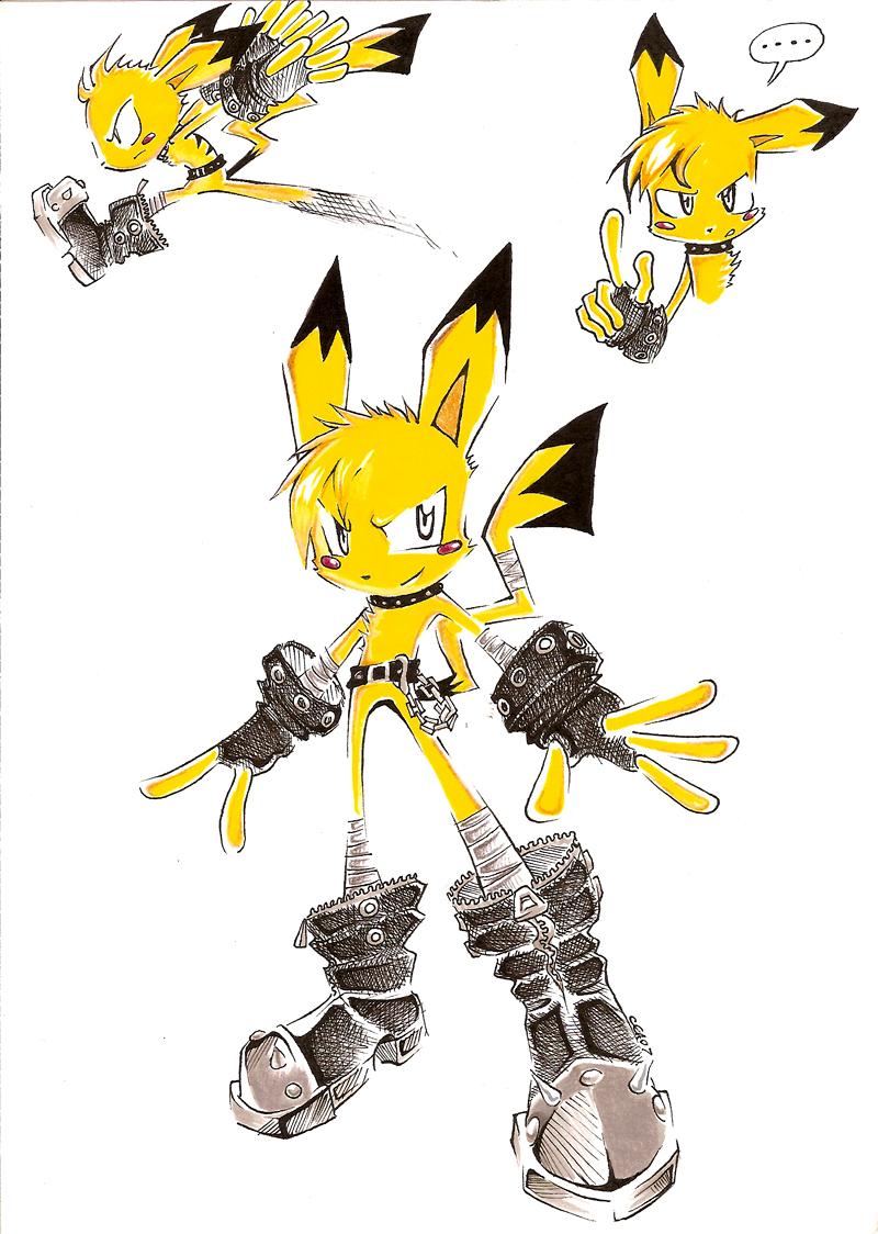 Pikachu Sonic Style By Gearthehedgehog On DeviantArt