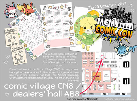 come see me at london mcm comic con! 27-29 october