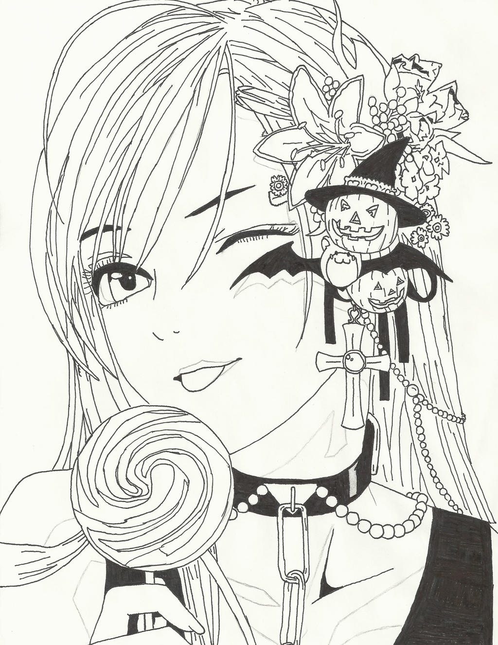 vampire anime coloring pages - photo#35
