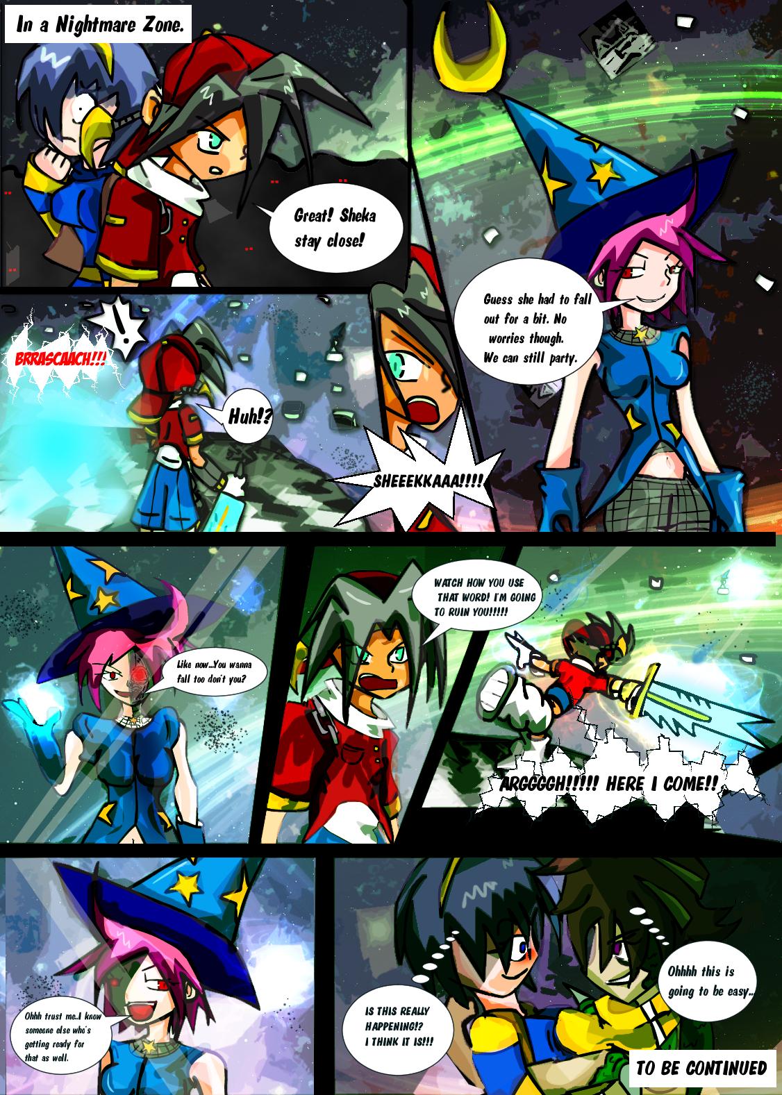Reality Warrior - Comic - Gabe and Sheka VS Luna by Skytric