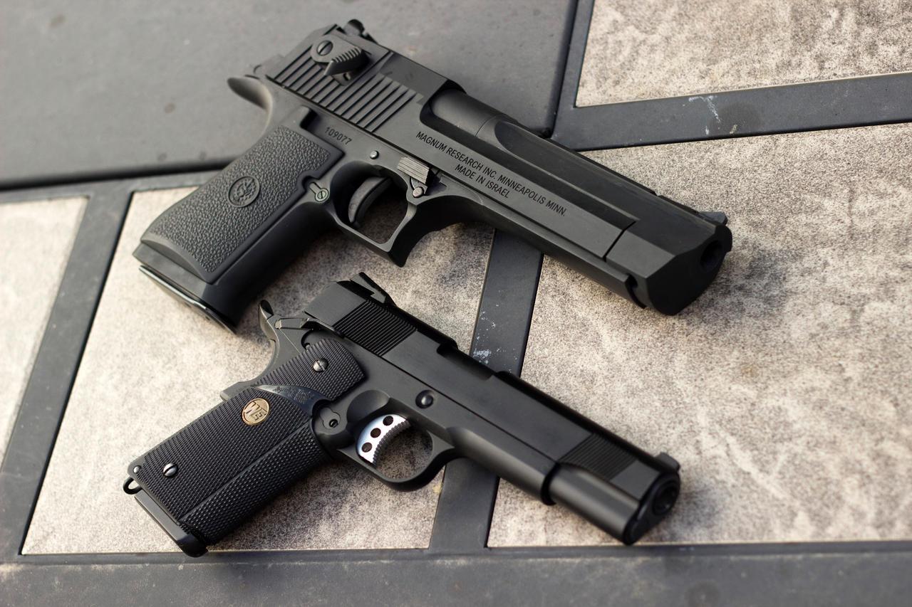 Desert Eagle and M1911 by SlightlyImperfectPro on DeviantArt