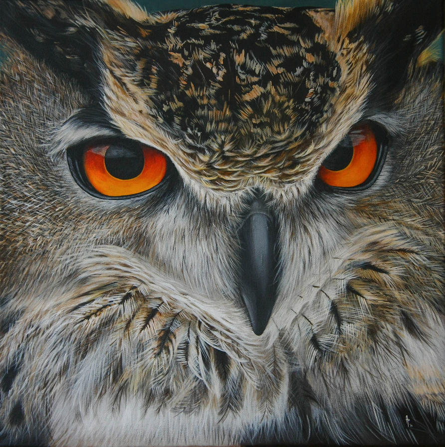 Stare. Acrylic on canvas by Li-Soro