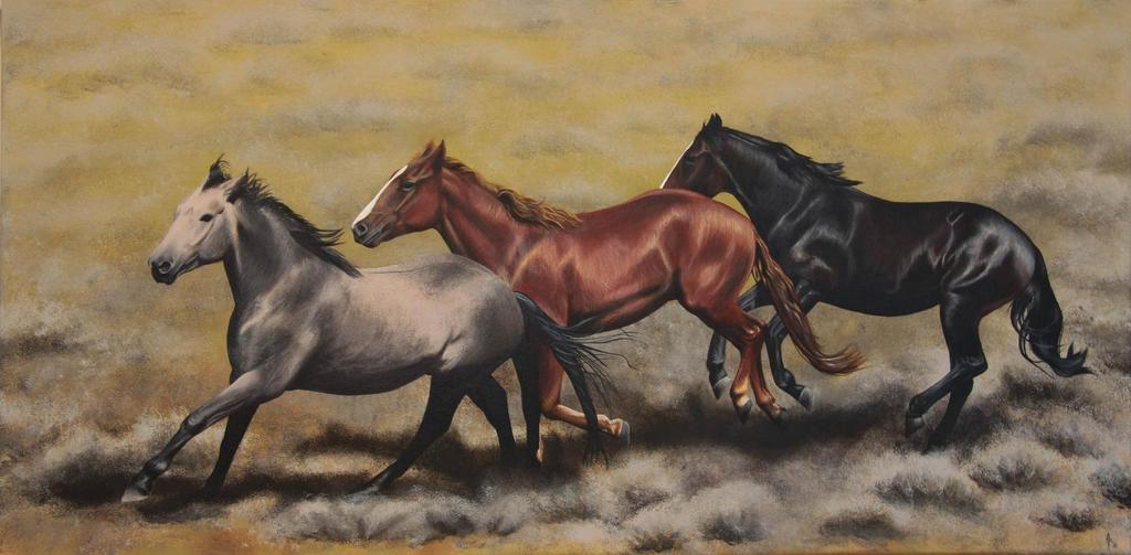Running free. Painting. by Li-Soro
