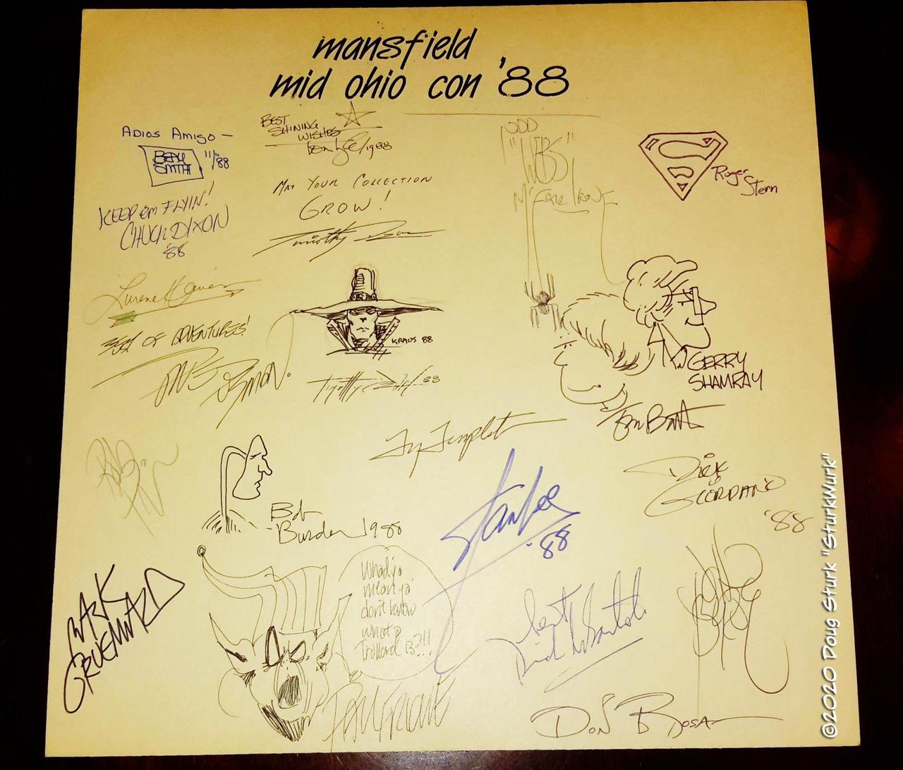 1988 Mid Ohio Con Autographs