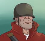 Soldier bust