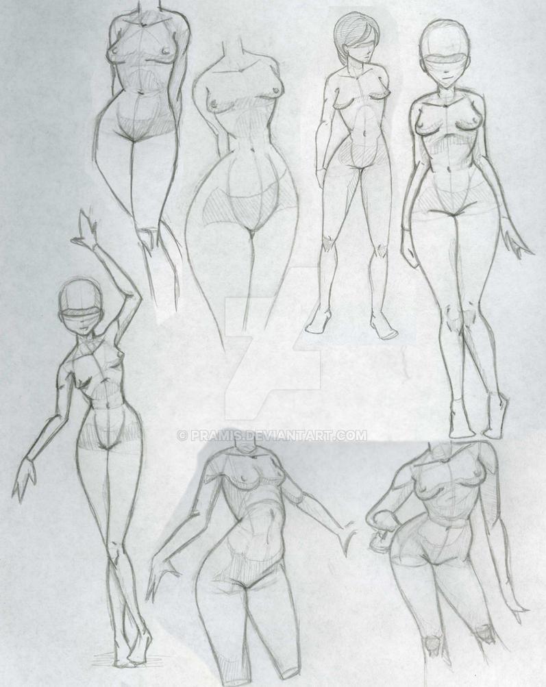 Girls Anatomy Try by Pramis on DeviantArt