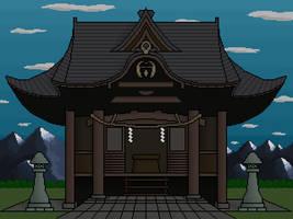 Hakurei shrine step 9 (final) by Setario