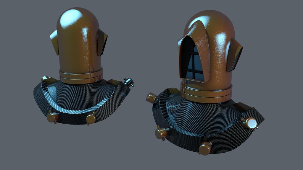 Gothic Helm MK. II by Mirk1