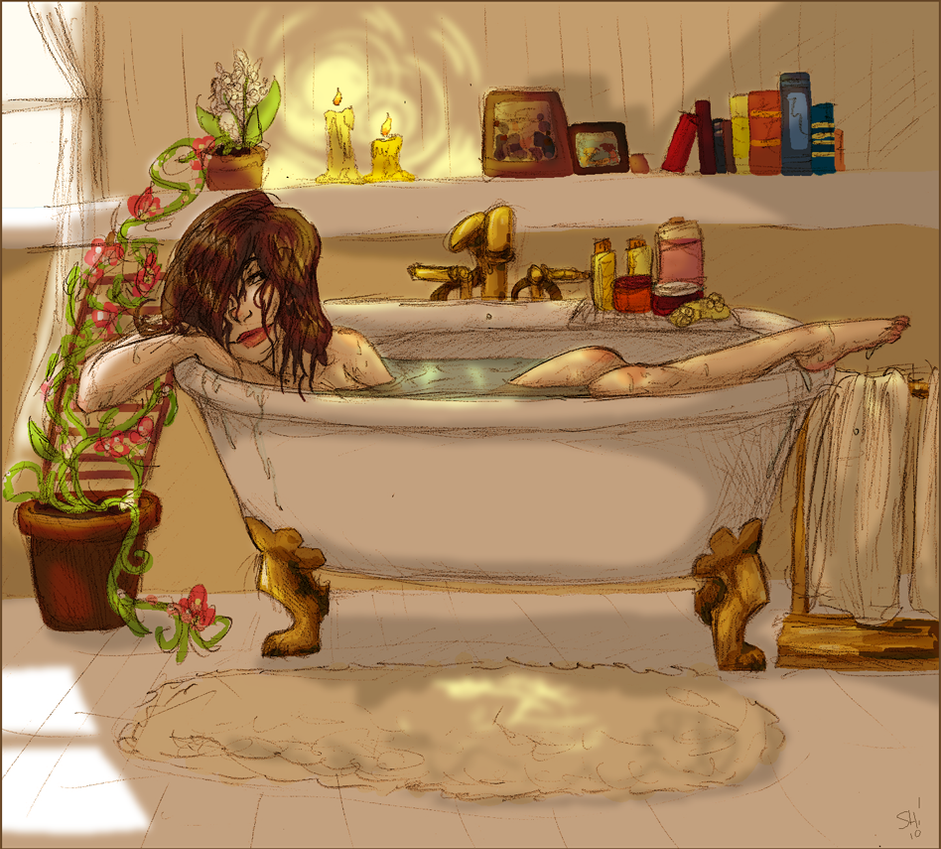 Clawfoot Tub by outonalark on DeviantArt