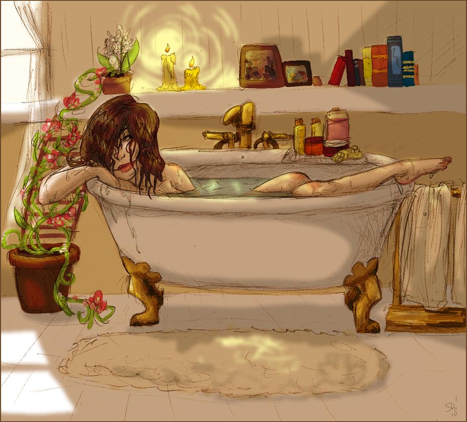 the gallery for  gt  woman in bathtub painting fun small bathroom ideas fun guest bathroom ideas