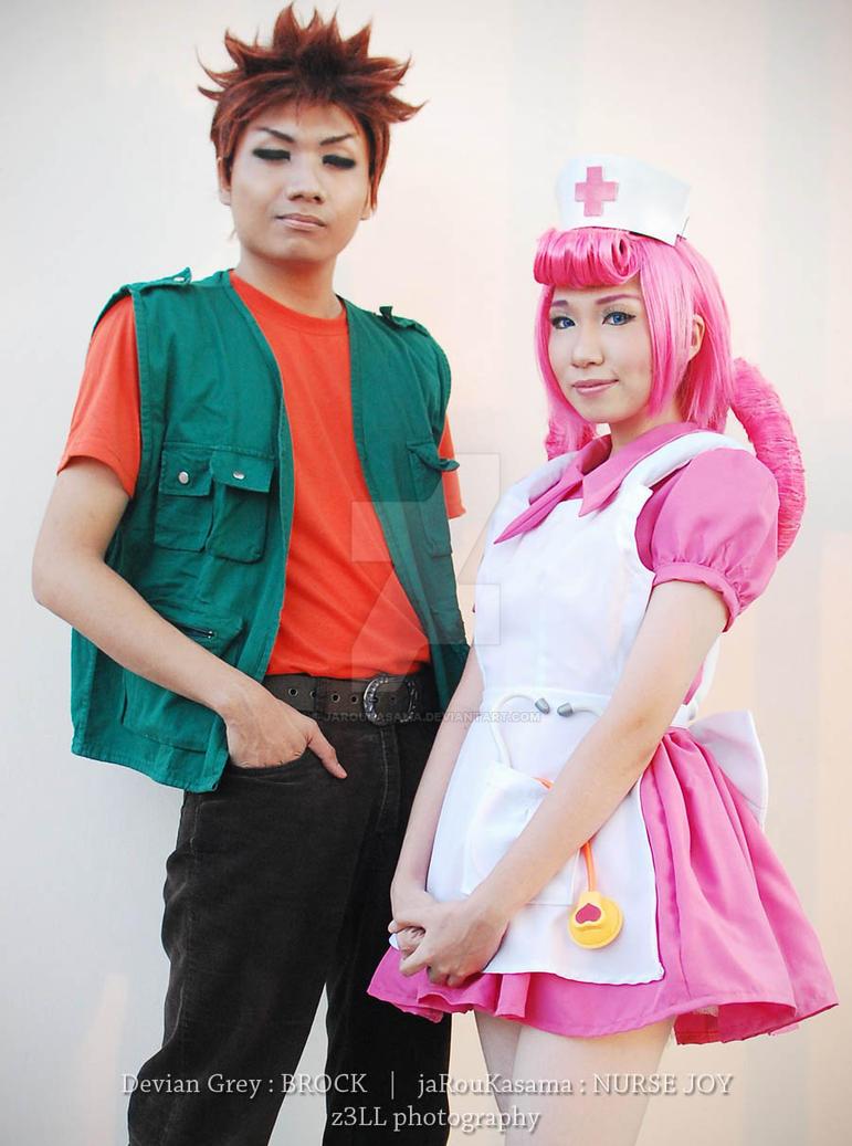 Nurse Joy and Brock : Pokemon by jaRoukaSama