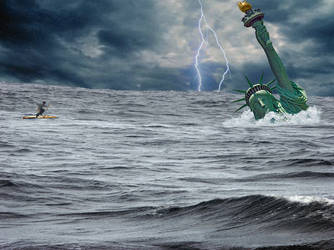 New York Tsunami by SavedByGODsGrace777