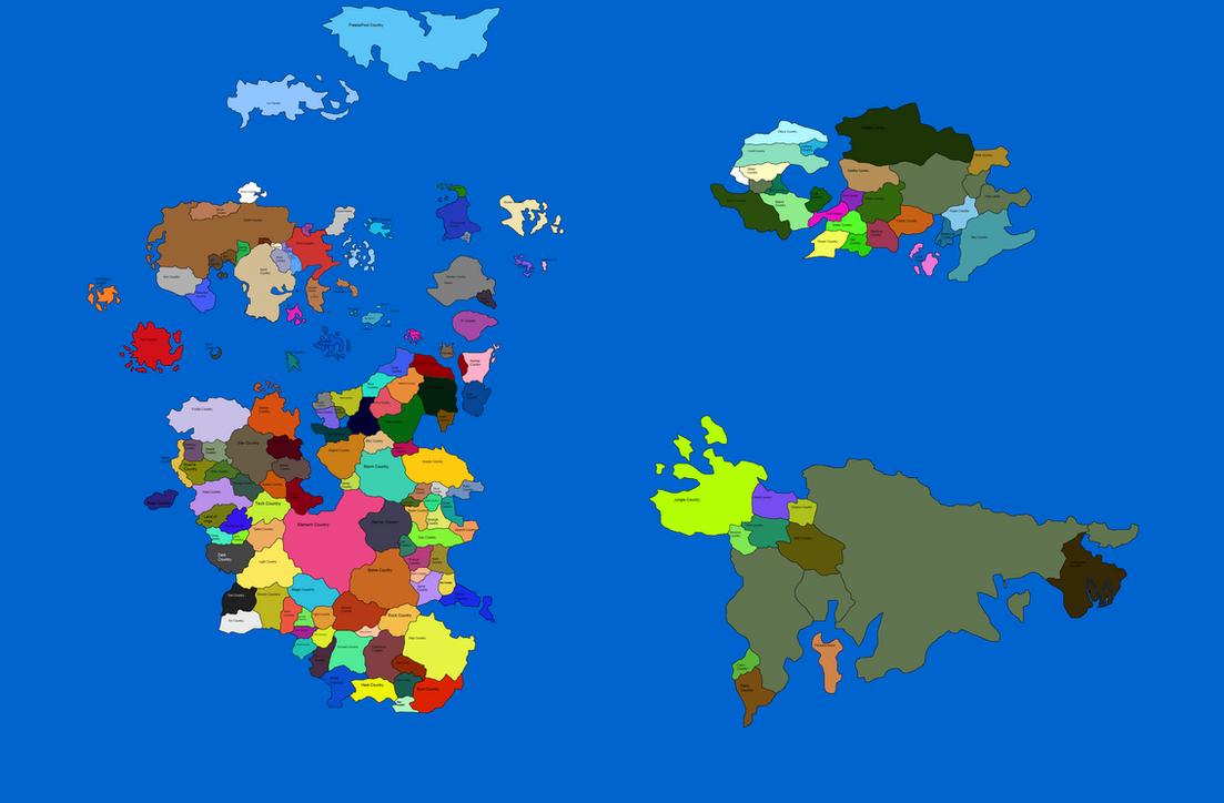 Random World Maps Blank: World Map By LisaMarie216 On