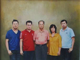 family portrait by xingru