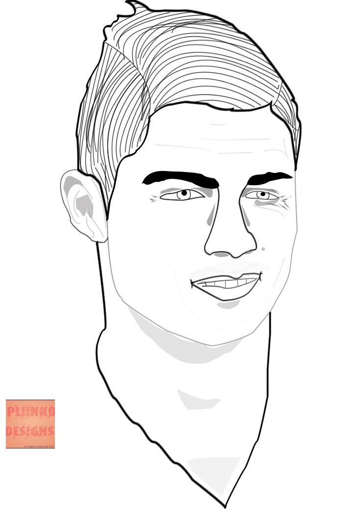 how to draw ronaldo face easy