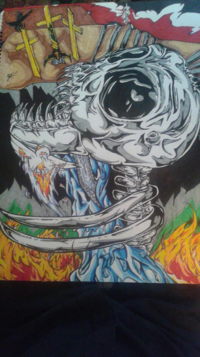 The Great Skull - Golgotha by BraidedPhage