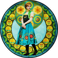Stained-Glass Princess Anna