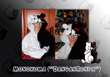 Monokuma hoody by famous-and-fabulous