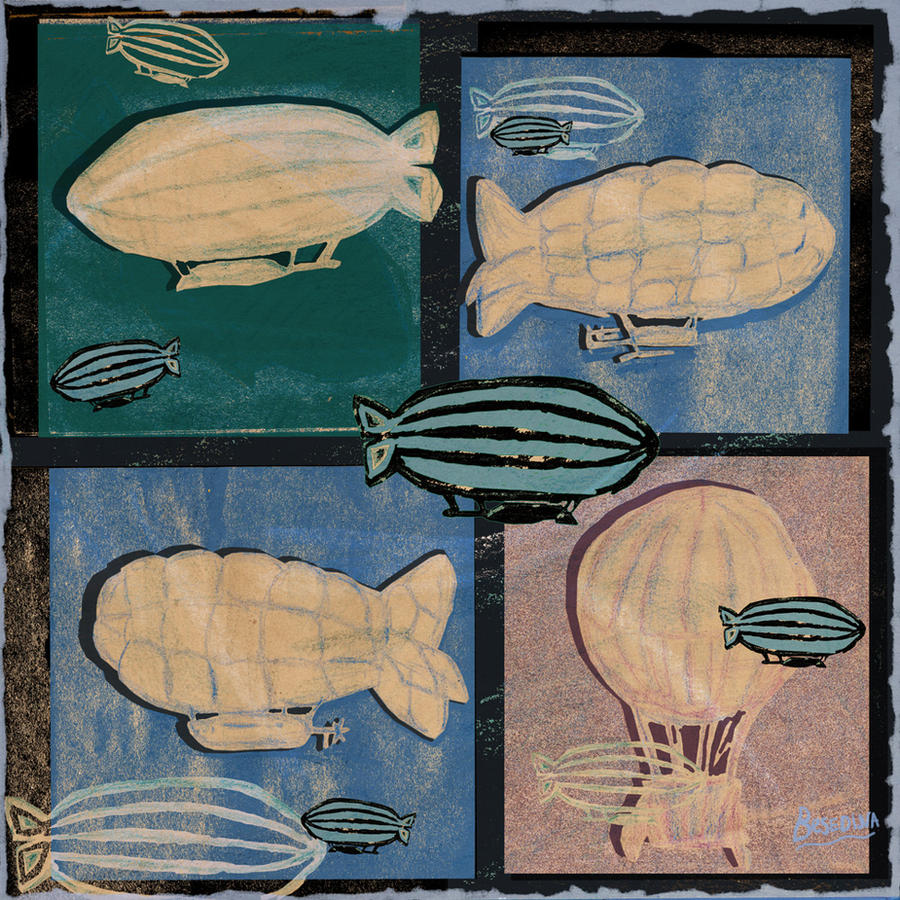zeppelins by Besedina
