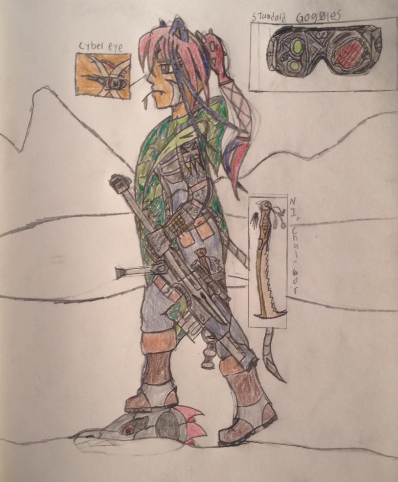 D.N.A. Sniper/Recon (name: Sa'mmak'lon) by Dark-sontheWolf137