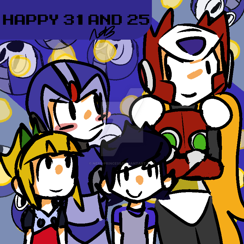 Happy 31st And 25th Anniversary Rockman By Nerb Princess On Deviantart
