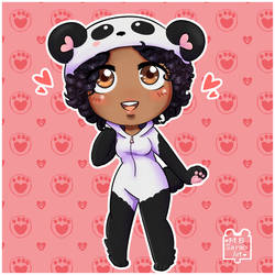 Panda Post YouTuber Chibi [COMMISSION]