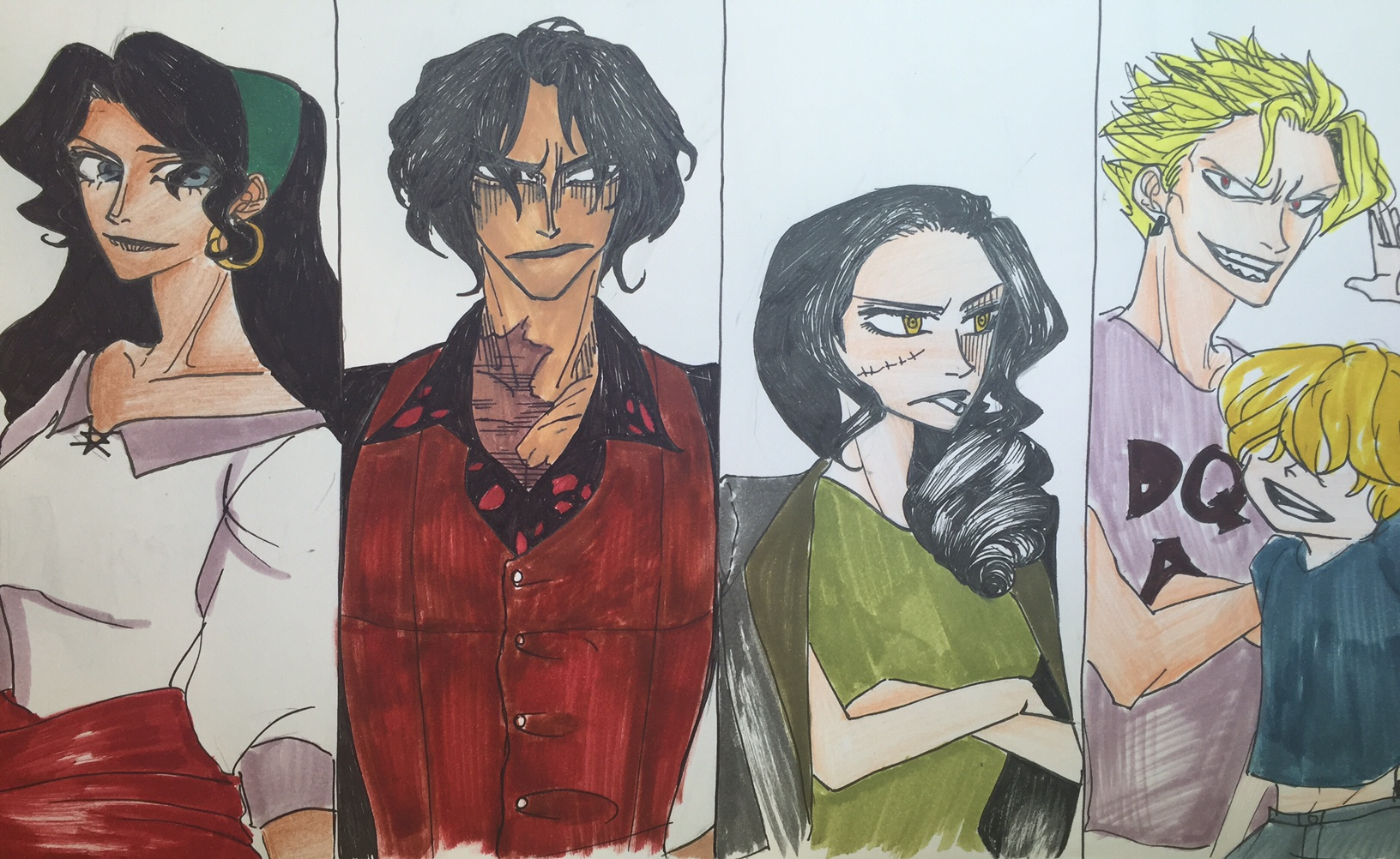 One Piece: The Descendants AU Characters 1 by nmaki98 on