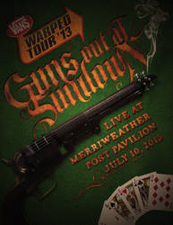 Guns Out At Sundown - Warped Tour Poster by ClintonKun