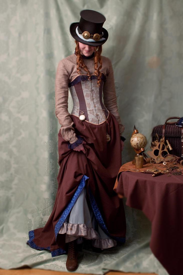 victorian steampunk costume by lalicorneailee on deviantart. Black Bedroom Furniture Sets. Home Design Ideas