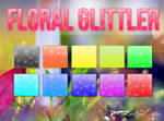 Floral Glitter Styles