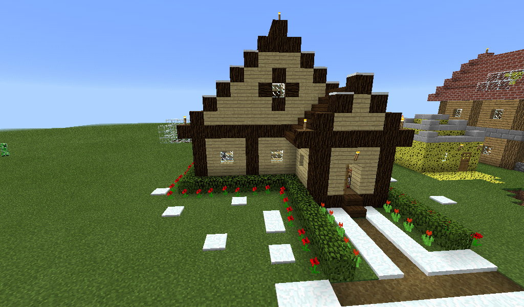 how to make a simple house in minecraft pe