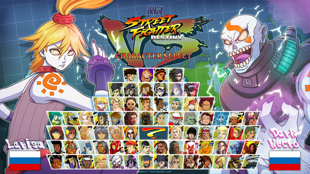 Street Fighter Destiny - Larissa VS Dark Necro by marcotte