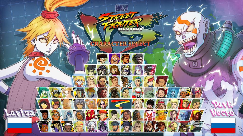 Street Fighter Destiny - Larissa VS Dark Necro by marcotte
