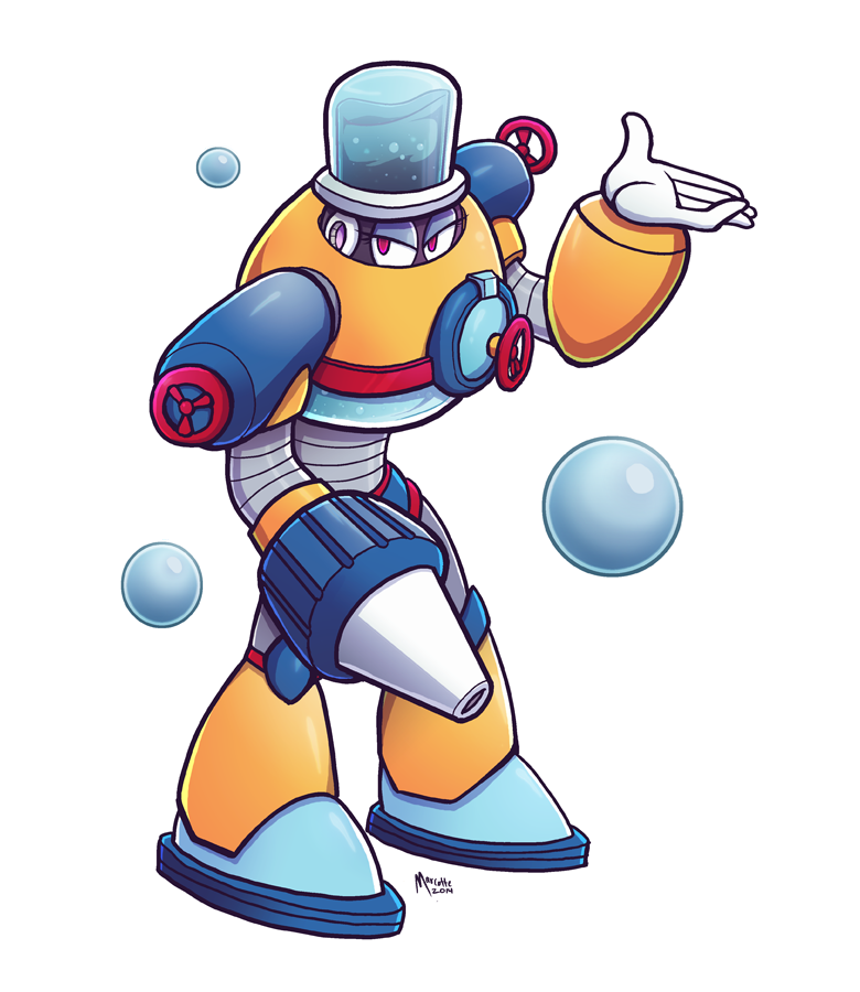 Aquawoman Megaman Genderswap Collab By Marcotte On