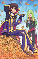Lelouch's Pizza Reign by marcotte