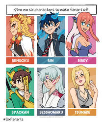 Six Fanarts 2020: Anime