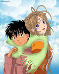 Keiichi and Belldandy