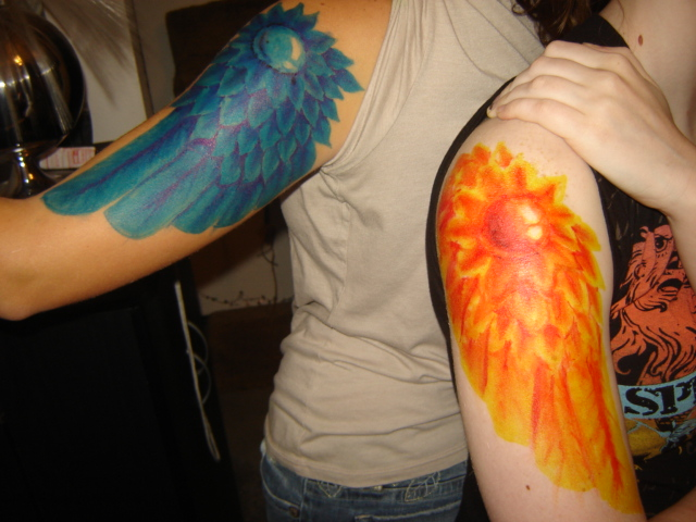Fire and ice by hatsuharurocks on deviantart for Fire and ice tattoo shop