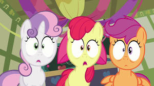 Cutie Mark Crusaders Shocked by Centurion1337