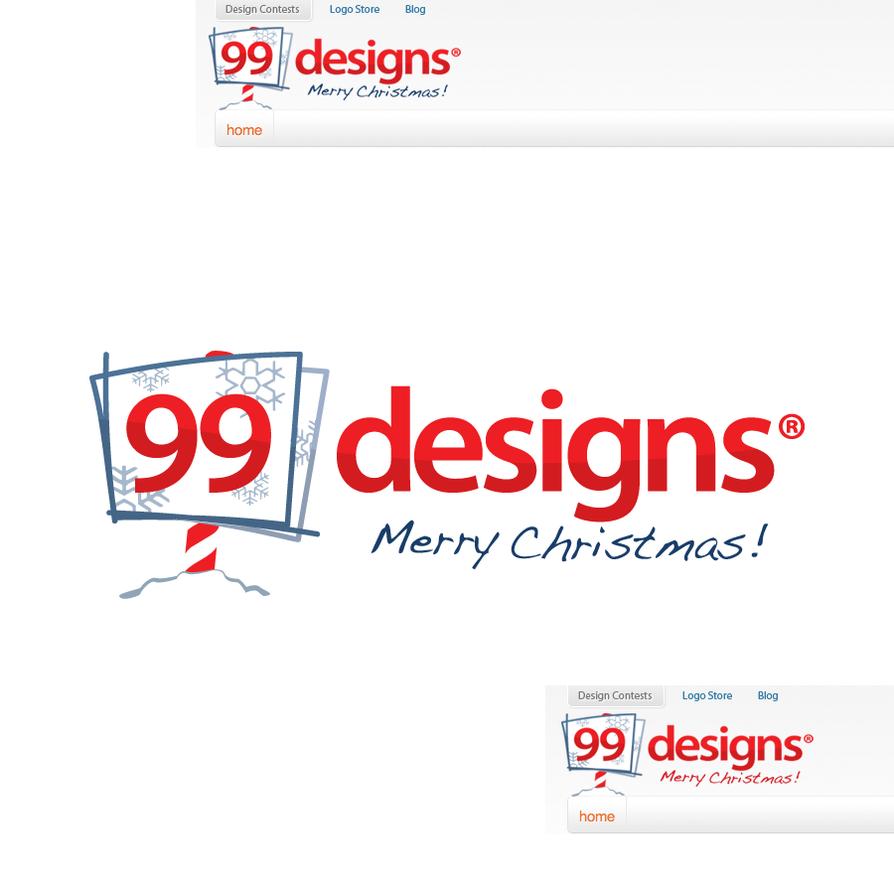 99 designs xmas logo contest by ledpoison on deviantart