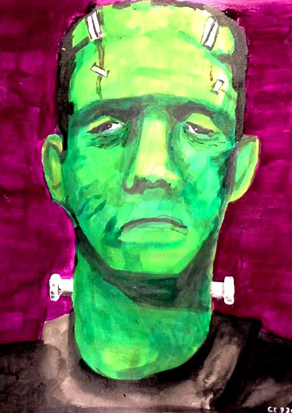 Frankenstein Painting by wooden-mango