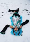 Hatsune Miku in the snow